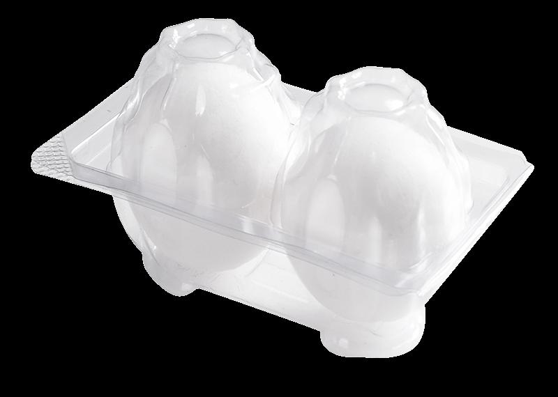 PLA/PVC Egg Box 一次性蛋盒- AK11