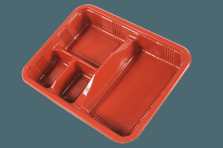 PP Take-Out Lunch Box PP外帶午餐盒/PP餐盒(K129紅黑色)