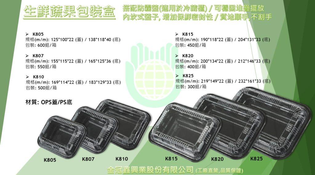 生鮮蔬果肉品海鮮包裝盒